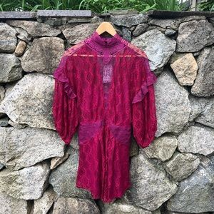 Free People | NWT Bittersweet Lace Mini Dress
